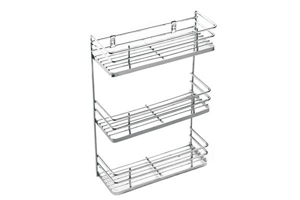 Stainless Steel Three-Tier Spice Rack