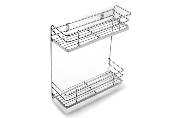 Stainless Steel Two-Tier Spice Rack