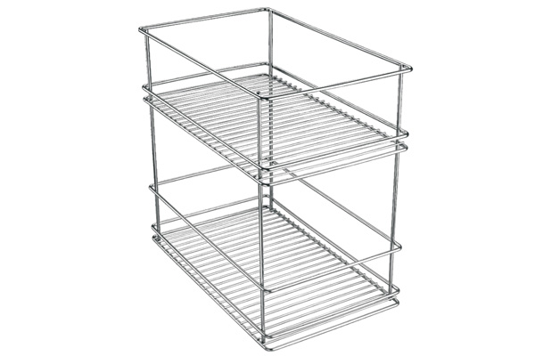 Two Tier Pull Out Basket