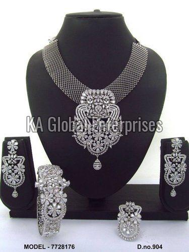CZ Necklace and Bracelet Set