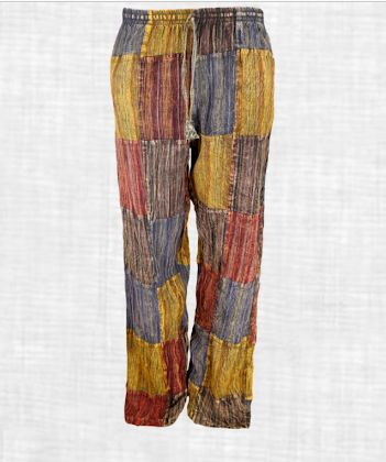 Patch Work Stone Wash Trouser