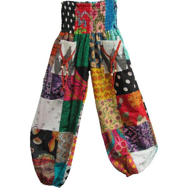Patchwork Harem Pants