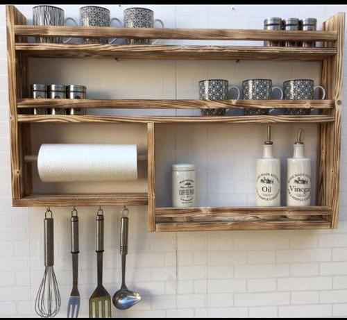 Wooden Kitchen Rack