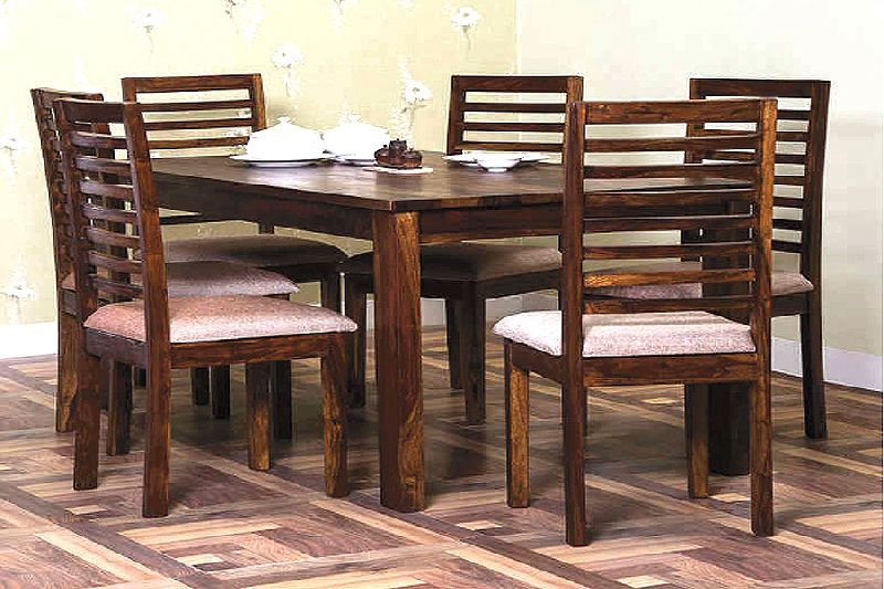 Wooden Restaurant Dining Table Set
