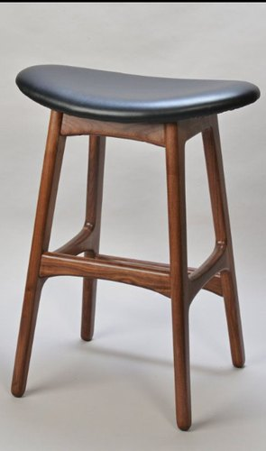 Wooden Upholstered Bar Stool