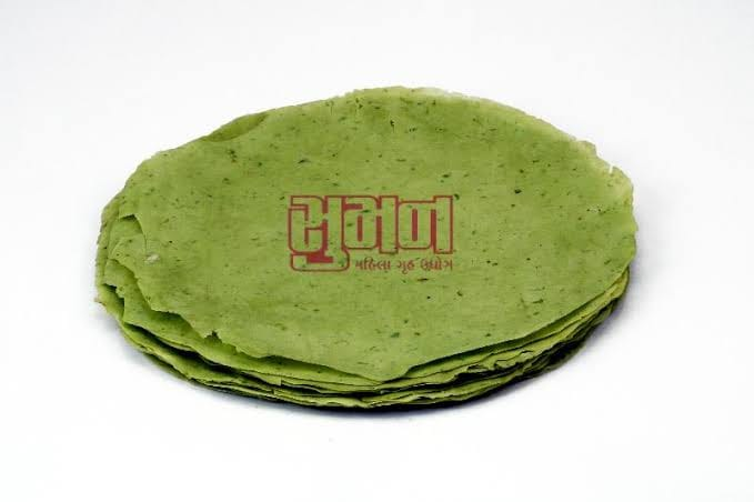 Urad Rice Green Chili Papad