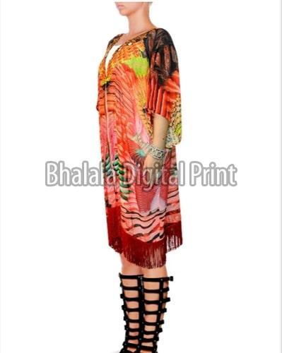 Crepe Short Kimono Jacket