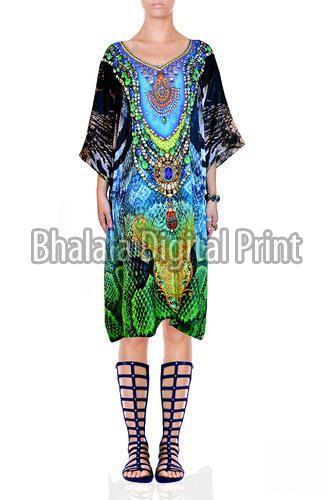 Crystal Embellished Georgette Kaftan