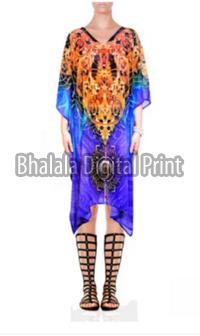 Crystal Embellished Short Kaftan