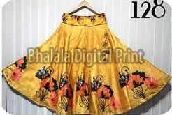 Digital Print Full Flair Long Skirt