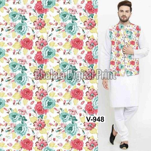 Digital Print Nehru Jacket Fabric