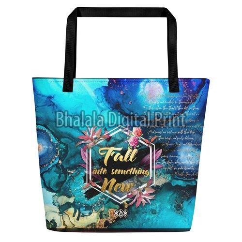 Floral Print Beach Bag