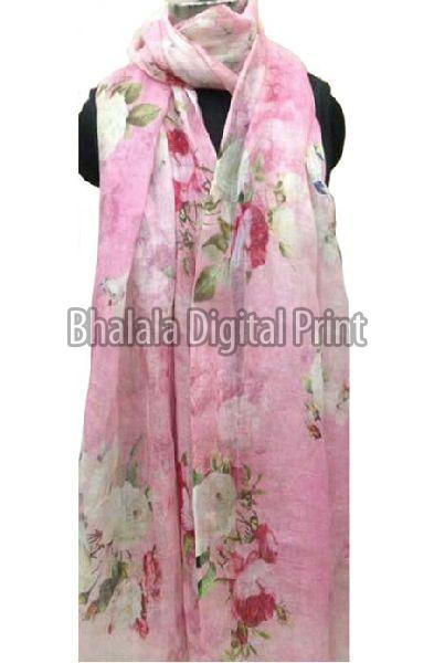 Linen Digital Printed Dupatta
