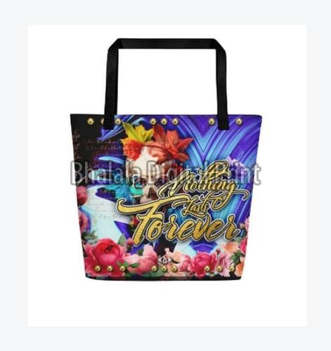Multicolor Beach Bag
