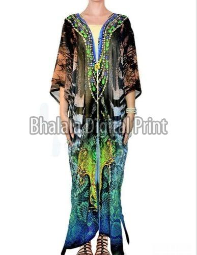Plus Size Long Kimono Jacket