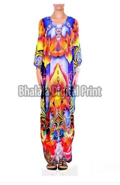 Printed Designer Long Kaftan