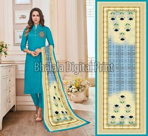 Zarna Silk Digital Printed Dupatta