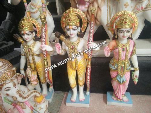 Marble Ram Dabar Family Statue