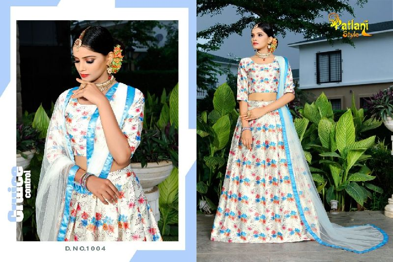 Bindiya Vol-1 Zari Gota Satin Digital Print Lehenga