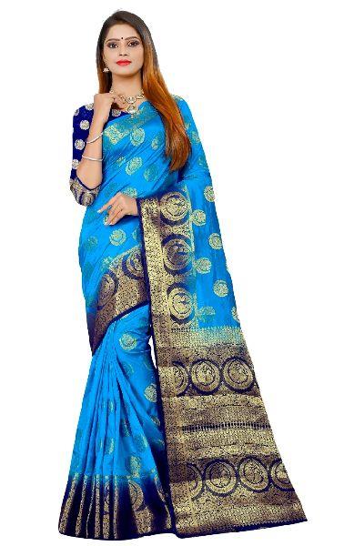Aura Kanjivaram Tussar Silk Saree