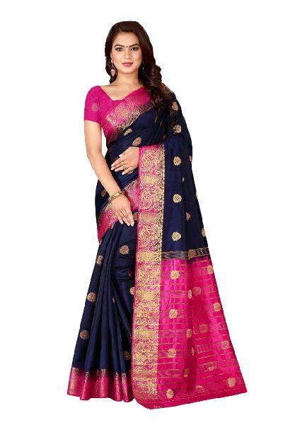 Mango Kanjivaram Tussar Silk Saree