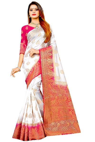 Palkhi Kanjivaram Tussar Silk Saree