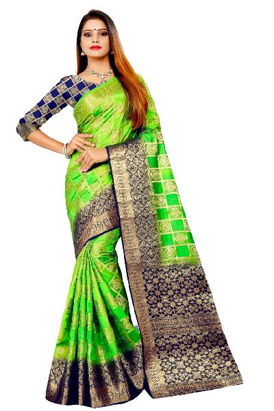 Patiala Vol 1 Kanjivaram Tussar Silk Saree