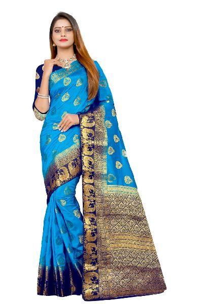 Rivaz Kanjivaram Tussar Silk Saree