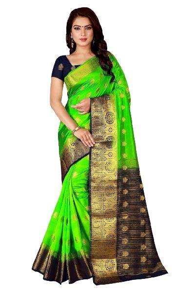 Zig Zag Kanjivaram Tussar Silk Saree