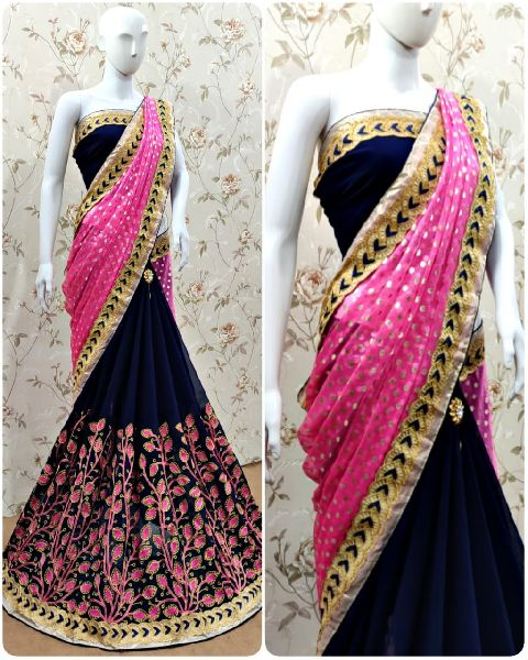 Jasmine Georgette Saree