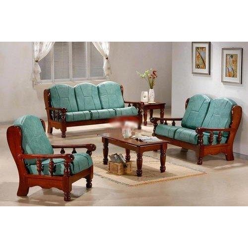 6 Seater Wooden Sofa Set