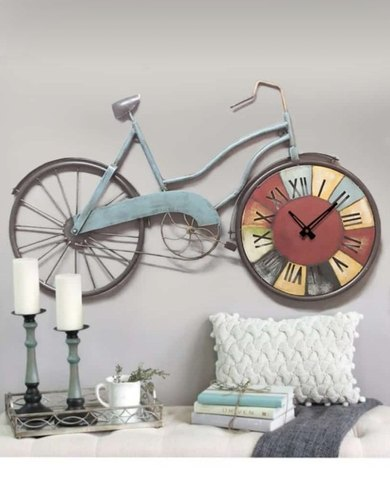 Antique Wall Decore Cycle Clock