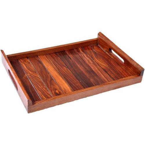 Brown Wooden Serving Tray