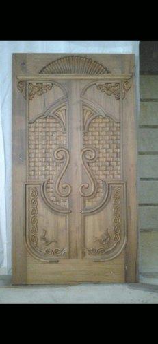 Handcrafted Wooden Door