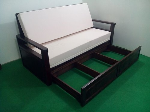 Wooden Sofa Cum Bed