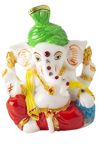 Marble Ganesh Statue For Car Dashboard