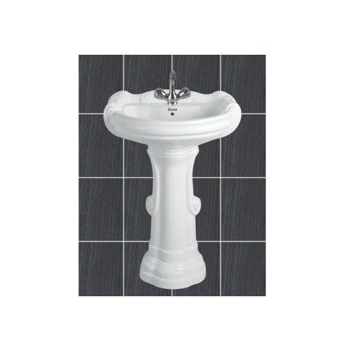 Big Sterling Pedestal Wash Basin