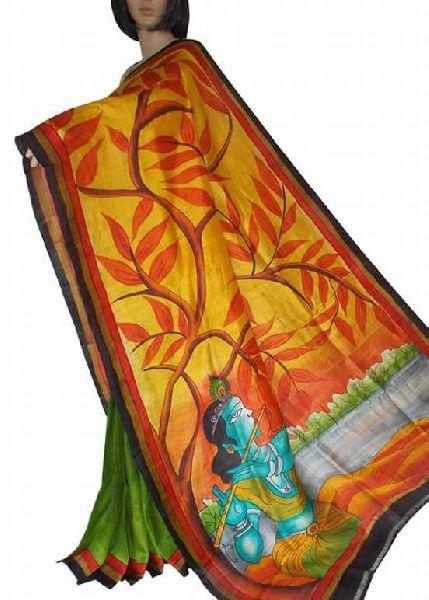 Murshidabad Printed Silk Saree