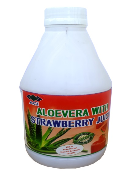 Aloe Vera with Strawberry Juice