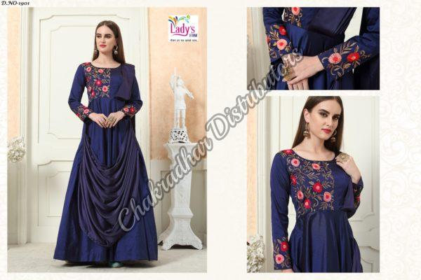 Dark Blue Eidy Gown