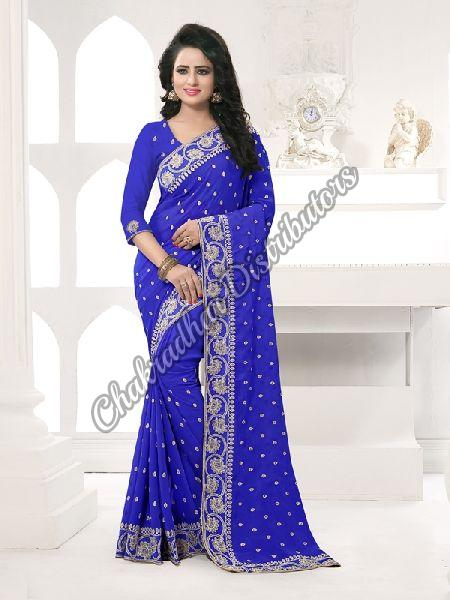Georgette Royal Pose Festival Saree