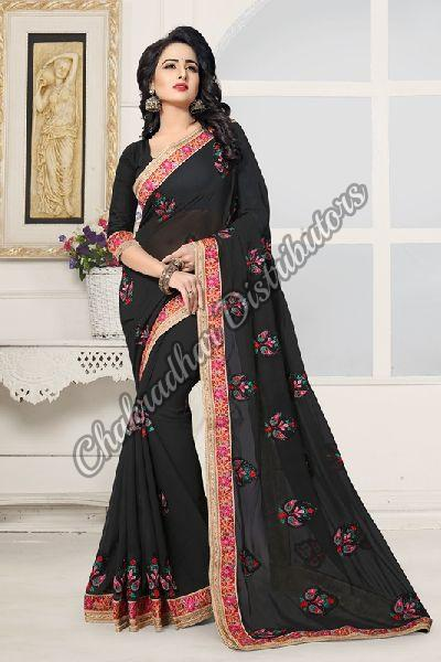 Kashmiri Beauty Georgette Festival Saree