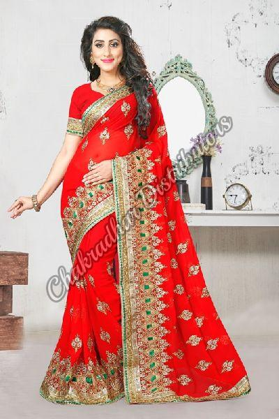 Lifestyle Georgette Wedding Saree