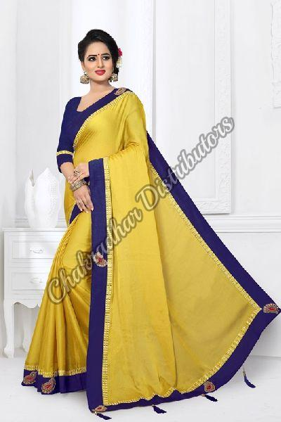 Monthan Silk Satin Designer Saree