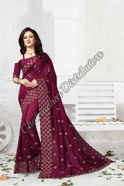 Vanya Vichitra Silk Party Wear Saree