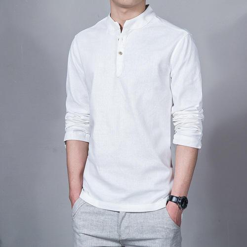 Mens Chinese Collar Shirt