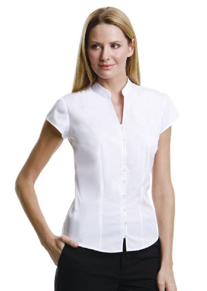 Womens Chinese Collar Shirt