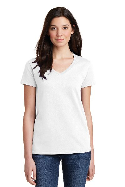 Womens V Neck T- Shirt