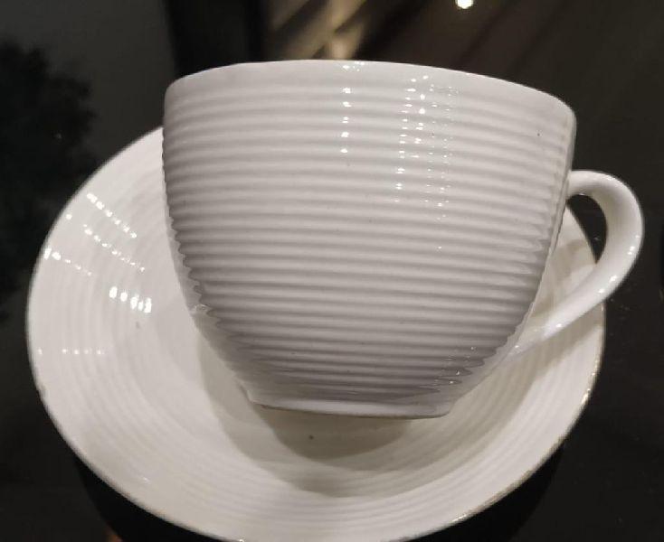 Ceramic Tea Cup with Saucer Plate