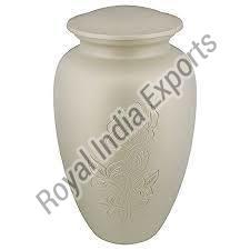 Aluminum White Urn
